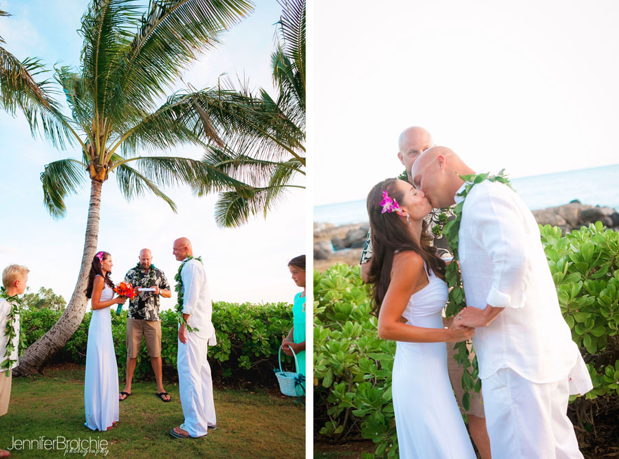 Beach Wedding Ceremony Oahu: An Intimate Wedding Celebration In Ko'Olina