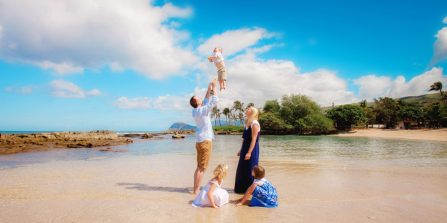 Oahu Family Photographer, Photographer in KoOlina, Disney Aulani Family Beach Pictures, Beach Pictures in Waikiki, Turtle Bay Resort Vacation Portraits