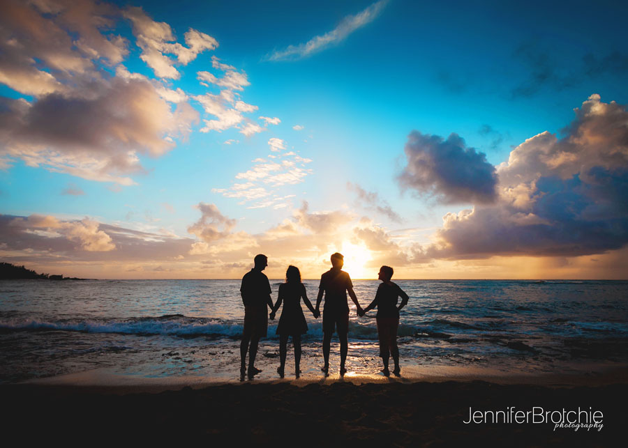 Sunset Family Photo Shoots Silouettes Redlands