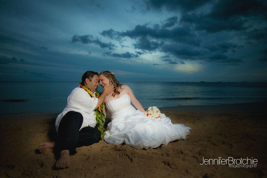 Sunset Beach Photos Wedding Oahu Hawaii